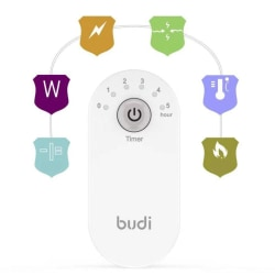 Budi 12w 2.4a 2 USB Säkerhetstimer Laddare Telefoner Tabletter