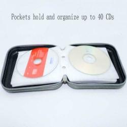 CD DVD-väska Hard Cover Skivförvaringshållare CD-plånbok B black