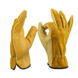 Leather Work Gloves Five Fingers Anti slip Dipped Wear resistant