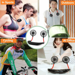 Portable Rechargeable Adjusted Neckband Neck Hanging Fan Persona