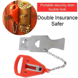 Portable Travel Security Safety Door Lock Hotel Home Prevention