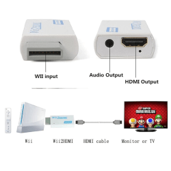Portable Wii To Hdmi Wii2hdmi Full Hd Converter Audio Output Ada