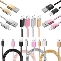 1,8m - Lightning Laddkabel - iPhone XR/Xs/Max/XS/X/8/7/6S/6/5 Guld
