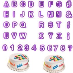 40 Bokstäver/Nummer - Form för Tårtan/Bakning