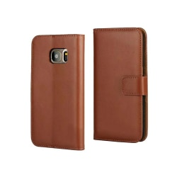 Fodral Läder / Plånbok - Samsung Galaxy S7 Edge Brun