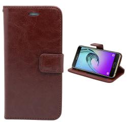 Fodral / Plånbok i Läder - Samsung Galaxy A3 2016 Brun