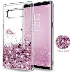 Galaxy S8 - Flytande Glitter 3D Bling Skal Case