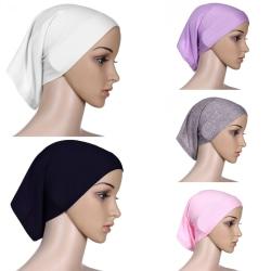 Heltäckande Hijab Cap Underscarf Neck Head Rosa
