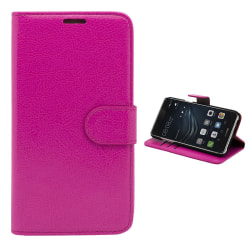 Huawei Honor 8 - Läderfodral/Skydd Rosa