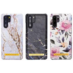 Huawei P30 Pro - Skal / Skydd / Blommor / Marmor Vit