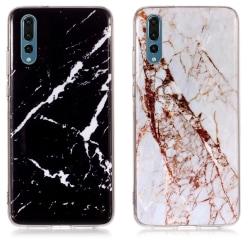 Huawei P30 - Skal / Skydd / Marmor Vit