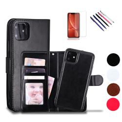 iPhone 12 Mini - Läderfodral / Skydd Svart