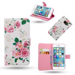 iPhone 6 / 6S - Fodral / Plånbok i Läder - Rosor