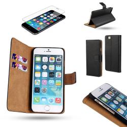iPhone 6 / 6S - Läderfodral/Skydd + Skärmskydd