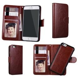iPhone 6 / 6S - Plånboksfodral / Magnet Skal Brun