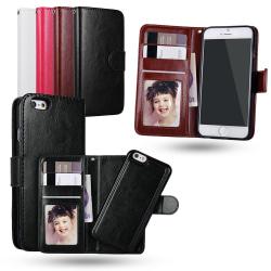 iPhone 6 / 6S - Plånboksfodral / Magnet Skal Svart