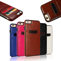 iPhone 6 Plus / 6S Plus - Läderfodral / Plånbok Blå