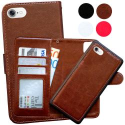 iPhone 7/8/SE (2020) - Plånboksfodral / Magnet Skal Brun