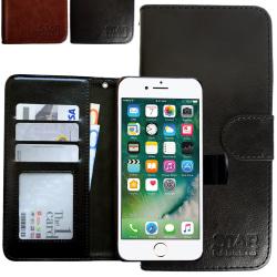 iPhone 7 - Läderfodral / Skydd Svart