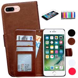 iPhone 7 Plus / 8 Plus - Läderfodral/Skydd Brun