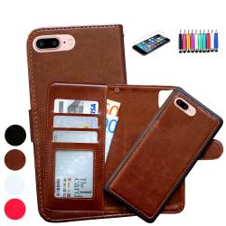iPhone 7 Plus / 8 Plus - Plånboksfodral / Magnet Skal Brun