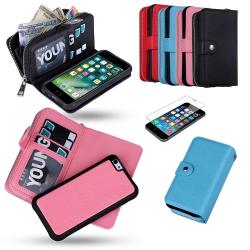 iPhone 7 Plus / 8 Plus - Plånboksfodral / Skydd Rosa