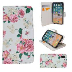 "iPhone X/Xs - Plånboksfodral - ""Rosor"""