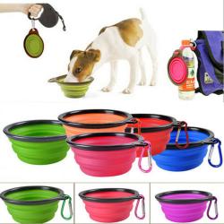 Kompakt Foder/Mat Skål för Hund Katt Rosa