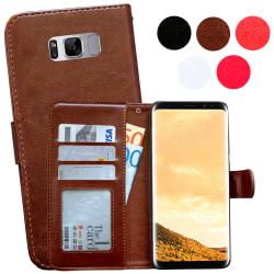 Läderfodral / Plånbok - Samsung Galaxy S8 Brun