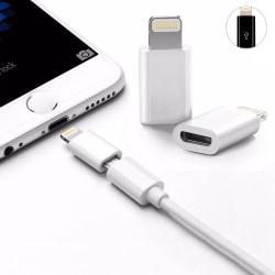 Micro USB till iPhone Lightning - Snabbladdning - Laddare Vit