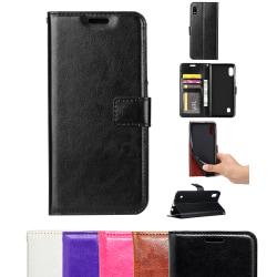 Samsung Galaxy A10 - Läderfodral / Skydd Svart