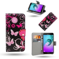 Samsung Galaxy A5 2016 - Fodral / Plånbok i Läder - Fjärilar