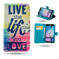 Samsung Galaxy S6 Edge - Fodral / Plånbok - Live the Life