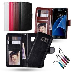 Samsung Galaxy S7 Edge - Plånboksfodral / Magnet Skal Svart