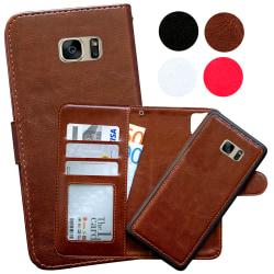 Samsung Galaxy S7 Edge - Plånboksfodral / Magnet Skal Brun