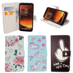 Samsung Galaxy S8 - Läderfodral / Skydd Rosa
