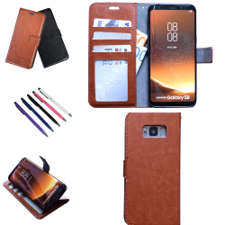 Samsung Galaxy S8 - Läderfodral / Skydd Svart