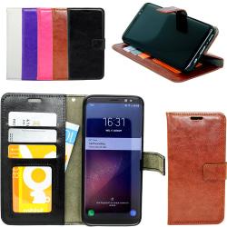 Samsung Galaxy S8 Plus - Läderfodral/Skydd Svart