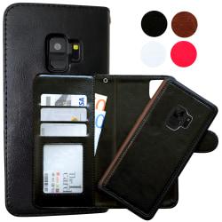 Samsung Galaxy S9 - Läderfodral / Magnet Skal Svart