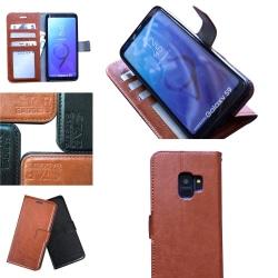 Samsung Galaxy S9 - Läderfodral / Skydd Brun