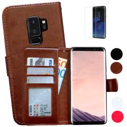 Samsung Galaxy S9 Plus - Läderfodral/Skydd Svart