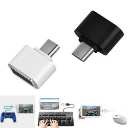 USB till Micro USB - Inbyggd OTG Adapter Vit