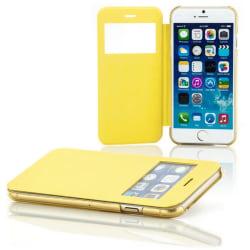 Cover / Skydd / Skal med displayfönster iPhone 6 / 6S Gult