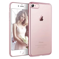 Exklusivt skydd / fodral iPhone 7 / 8 / SE 2020 Rosa Metallic