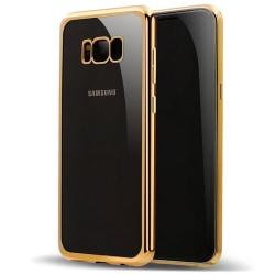 Exklusivt slimfit skydd / fodral Samsung Galaxy S8 Plus Guldkant