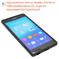 Sony Xperia Z3+ Skydd, Fodral + SuperGuard skärmskydd