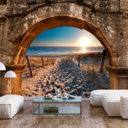 Fototapet - Arch and Beach Size: 100x70