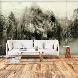 Fototapet - Mountain Predator (Beige) Size: 100x70