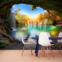 Fototapet - Turquoise Lake Size: 100x70