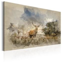 Tavla - Deer in Field Size: 90x60